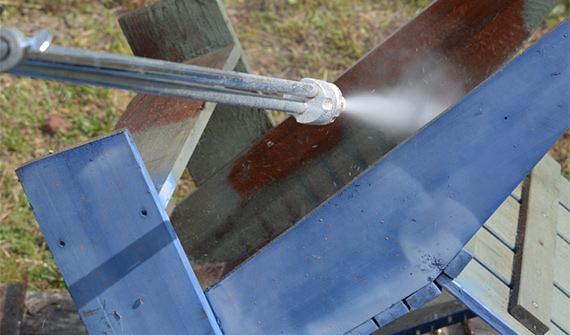 pressure washing furniture